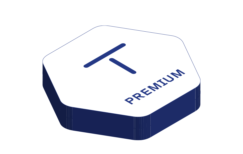 Premium package illustration.